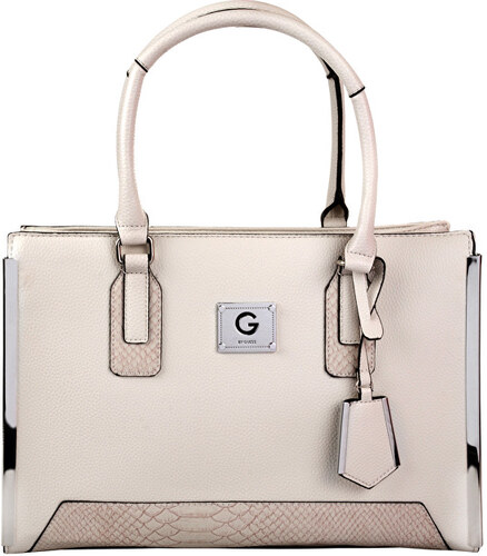 Guess Dámska kabelka G by GUESS Women`s Windfall Faux-Leather Satchel -  Stone b5c1202465f