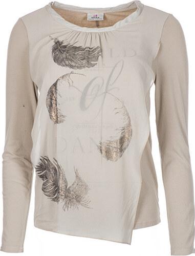 Deha Dámske tričko Long Sleeve T-Shirt B84160 Natural Beige - Glami.sk 600e904759