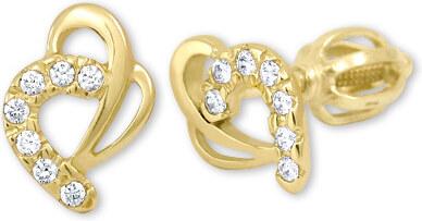 Brilio Zlaté náušnice srdce s kryštálmi 239 001 00583 - 1 0f435b88008