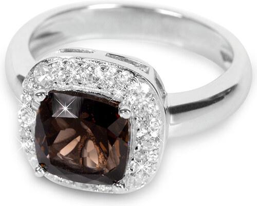 7c02fcf38 Silver Cat Stříbrný prsten s krystalem SC130 - Glami.cz