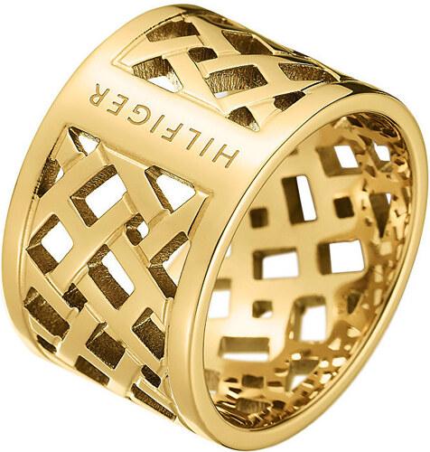 f2c654d04e2 Tommy Hilfiger Originální pozlacený prsten z oceli TH2700750 - Glami.cz