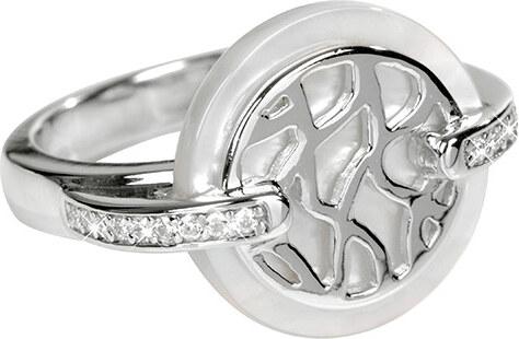 3a0df71c6 Silver Cat Stříbrný prsten s perletí a krystaly SC154 - Glami.cz