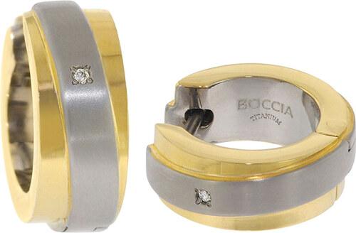 f45718985 Boccia Titanium Pozlacené titanové náušnice s brilianty 0560-07 ...