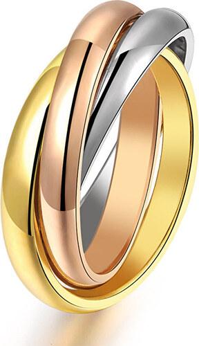bcb5ccaf409 Troli Ocelový tricolor prsten KRS-247 - Glami.cz