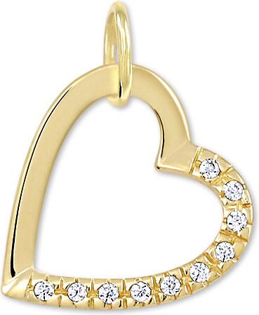 f7afbdf3d Brilio Zlatý prívesok srdce s kryštálmi 249 001 00494 - 0,60 g ...