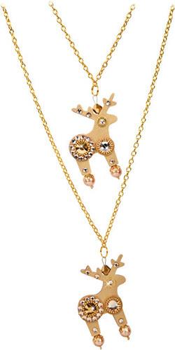 9ea73219b Deers Dvojitý zlatý náhrdelník Molly & Dolly - Glami.sk