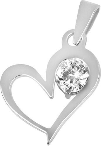3f6c65efd Brilio Zlatý prívesok srdce s kryštálom 246 001 00463 07 - 0,75 g ...