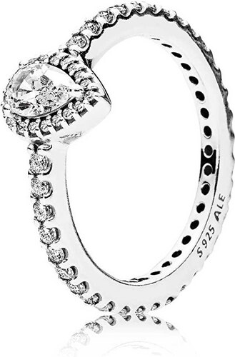 Pandora Třpytivý stříbrný prsten 196254CZ - Glami.cz 55c0049cae4