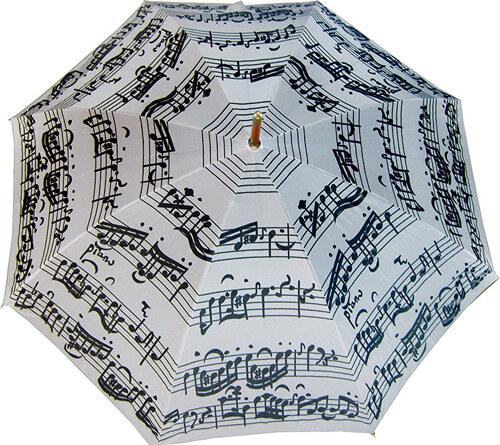 25b73ada2 Blooming Brollies Palicový dáždnik White Music Notes LRWP877/MM ...