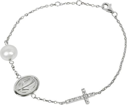 1fc5884c2 -20% JwL Luxury Pearls Luxusný strieborný náramok s pravou perlou a  zirkónmi JL0201