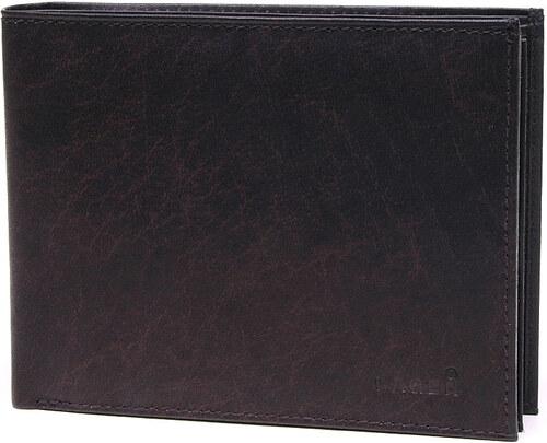 Lagen Pánska tmavo hnedá kožená peňaženka Dark Brown V-75 - Glami.sk b7806eaabc1