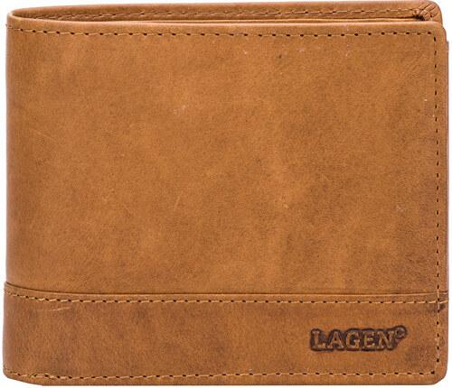 0b0adf08787c Lagen Pánska hnedá kožená peňaženka Brown V-76   V - Glami.sk