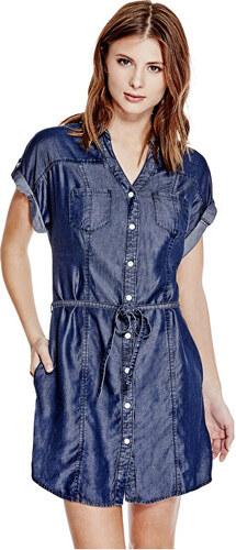 Guess Dámske šaty Maren Chambray Shirtdress - Glami.sk b0c3bce633e