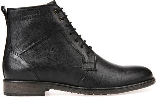 a90407bfc7 GEOX Pánske kožené topánky Jaylon Black U74Y7C-00046-C9999 - Glami.sk