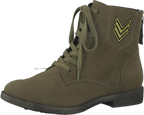 ae1bff7b993d Tamaris Elegantné dámske členkové topánky 1-1-25134-39-722 Olive ...