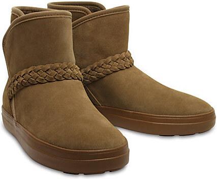 13848c71a7 -12% Crocs Dámske zimné topánky LodgePoint Suede Bootie W Hazelnut 204798 -28G