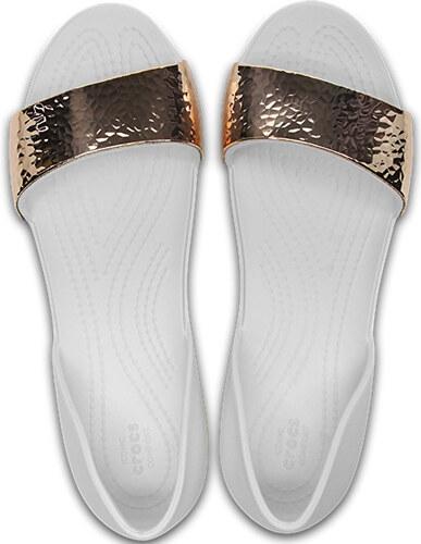 Crocs Dámské baleríny Lina Dorsay Hammered Met Oyster Rose Gold 205140-19I e07cf45413