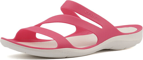 c63c8330bb Crocs Dámske šľapky Swiftwater Sandal Paradise Pink White 203998-6NR ...