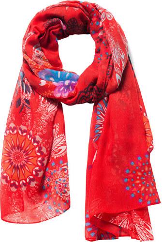 Desigual Šátek Fular Mandala Carmin 18WAWW49 3000 - Glami.cz 34e2054661