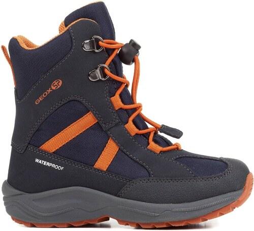 Geox Chlapčenské zimné topánky New Alaska - modro-oranžové - Glami.sk 8f3013732e0