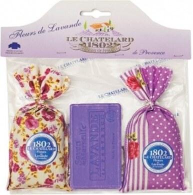 f3b4fe7b74 Le Chatelard Darčeková sada Levanduľový vrecúško 2 x 18 g + levanduľovej  mydlo 100 g