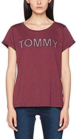 Tommy Hilfiger Dámské triko Cotton Iconic Tommy Tee Sn Tee Ss  UW0UW00401-502 Grape 906905ccbc