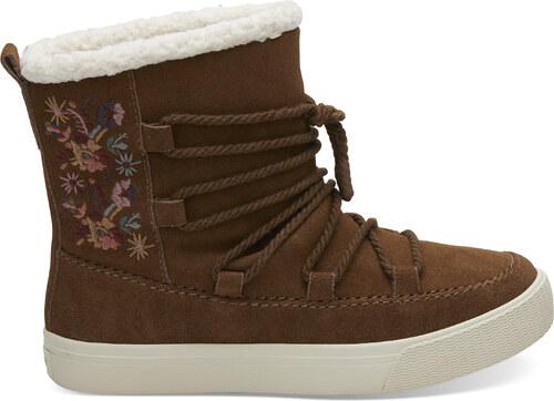 a9805260ac Dámske hnedé členkové topánky TOMS Alpine - Glami.sk