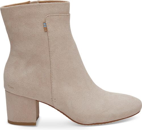 Dámske ružové členkové topánky na podpatku TOMS Evie - Glami.sk 9ec610993b3
