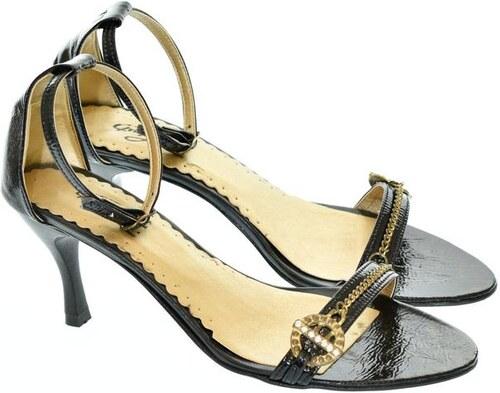 097a357f060e JOHN-C Dámske čierne sandále GREA 36 - Glami.sk