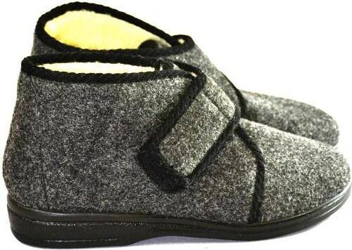 7b51796fb7f5 JOHN-C Pánske sivé papuče JERRY 40 - Glami.sk