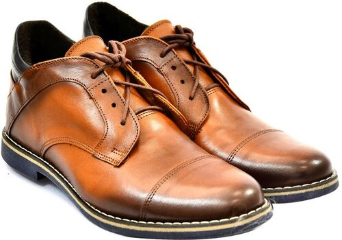 1ddf02f85 I-GUANA Pánske hnedé kožené zimné topánky VINNY 40 - Glami.sk