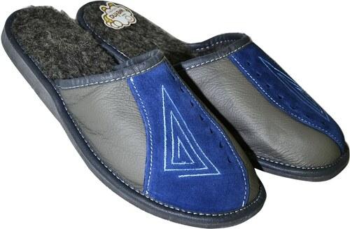 2f0c75e555a1c JOHN-C Pánske sivo-modré papuče VIKTOR 40 - Glami.sk