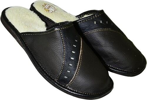 65f9335c1a01c JOHN-C Pánske čierne papuče TIBOR 40 - Glami.sk