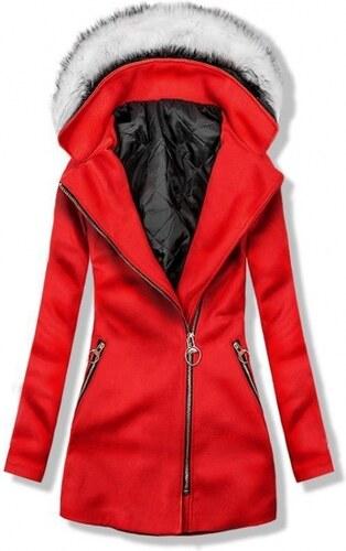 Trendovo Červený kabát s kapucí - Glami.cz 15c3e897bb