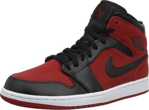 brand new dd79b 64286 Nike Herren Air Jordan 1 Mid Basketballschuhe Rot (Gym Red Black White 610