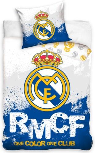 4d4f8c9ea54e2 Carbotex Bavlnené posteľné obliečky Real Madrid - one color one club ...