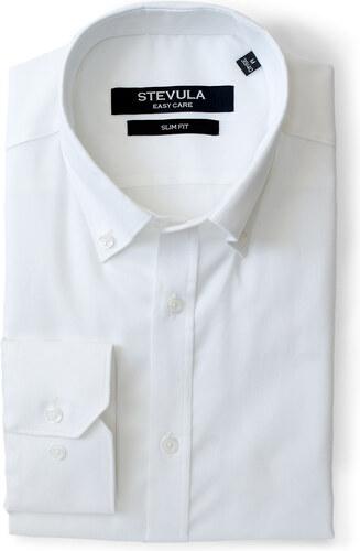 d31f0ccba3ee STEVULA Biela slim fit košeľa s golierom Button-Down - Glami.sk