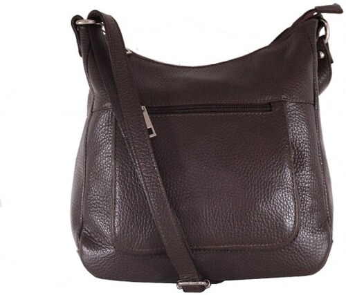 -15% Talianske kožené kabelky dámske cez rameno stredné čokoládové Zolana f4f1a369ad