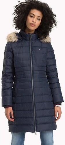 Tommy Hilfiger dámský tmavě modrý péřový kabát Essential - Glami.cz eff94e10d9