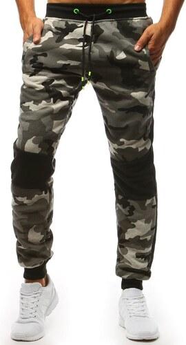 Nohavice teplákové pánske maskáčové šedé - Glami.sk bba0a1a60c