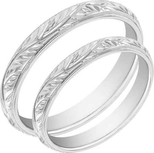 Eppi Zlate Vintage Snubni Prsteny S Romantickym Gravirem Matu Glami Cz