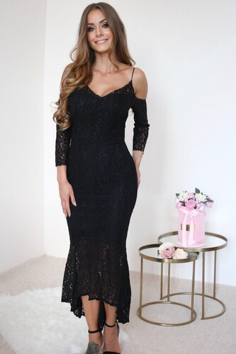ZAZZA Čierne čipkované spoločenské šaty - Glami.sk 6d3c6f70bcd