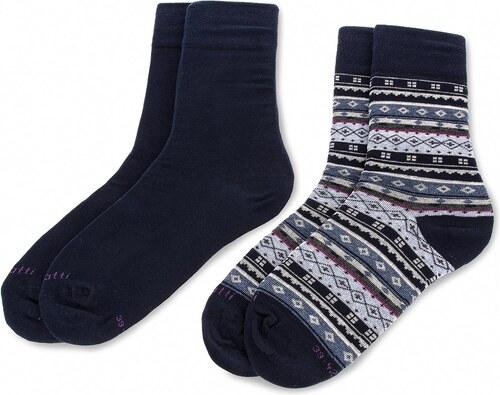 Sada 2 párů vysokých ponožek unisex BUGATTI - 6868 Navy 540 - Glami.cz d292a1dda9