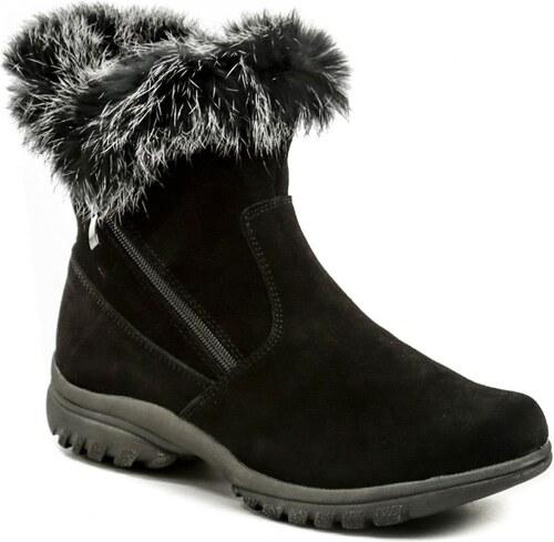c62180ae16a6 Cortina.be Topway B752128 černé zimní dámské kotníčkové boty - Glami.cz