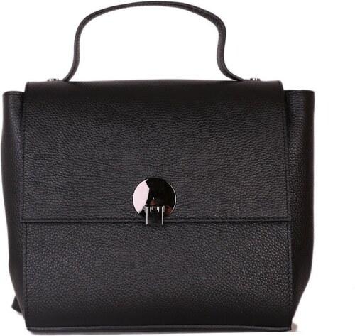 ITALSKÉ Černý kožený batoh a kabelka 2 v 1 Rosalinda df7aea902d