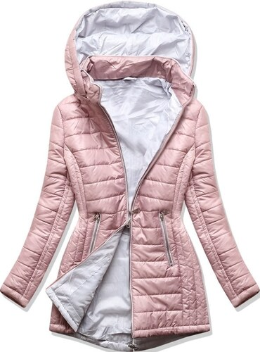 MODOVO Női steppelt kabát 1088 púderrózsaszín - Glami.hu 07e83259cc