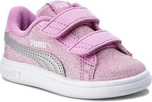 Sneakersy PUMA - Smash V2 Glitz Glam V 367380 02 Orchid Puma Silver ... 43f2bfcd0f9