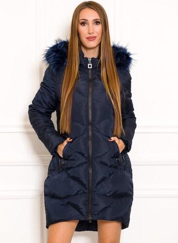 Női téli kabát Due Linee - Sötétkék - Glami.hu d963e08de9