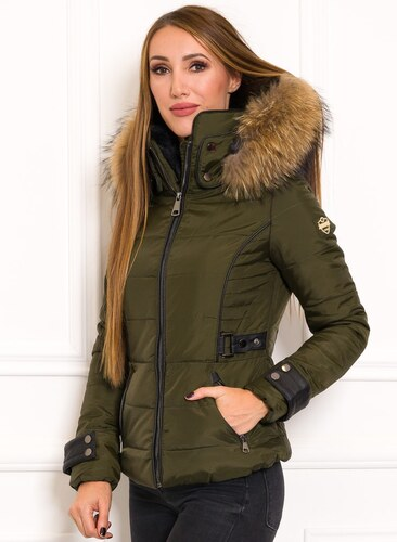f24fdbb263 Női téli kabát eredeti rókaszőrrel Due Linee - Zöld - Glami.hu