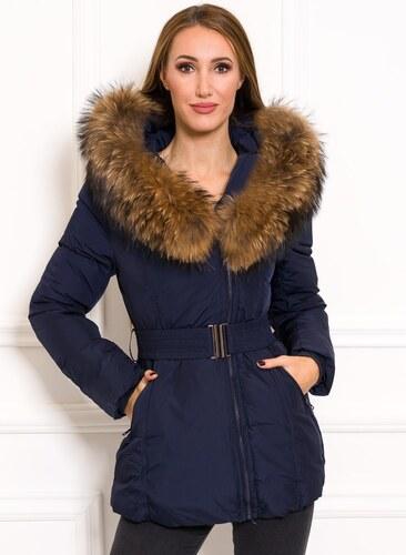 7243905724 Női téli kabát eredeti rókaszőrrel Due Linee - Sötétkék - Glami.hu